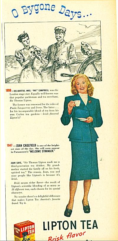 1947 -  Lipton Tea - JOAN CAULFIELD (Image1)