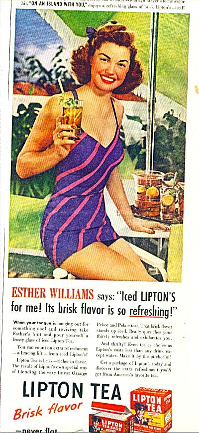 1948 -  Lipton Tea - ESTHER WILLIAMS (Image1)
