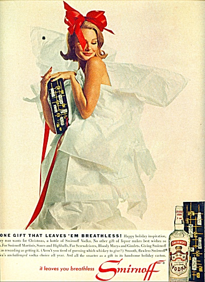 1942 - Smirnoff Vodka Ad Wrapped Model