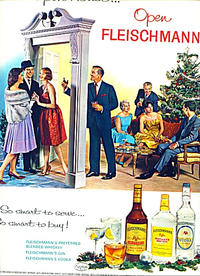 1962 -  Fleischmann's whiskey, gin and vodka (Image1)