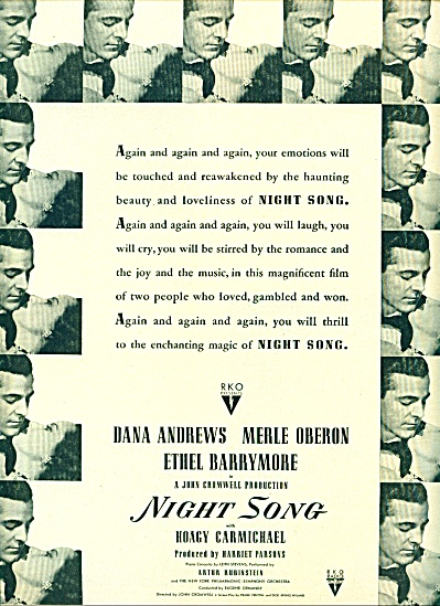 1947 -  Movie:  Night song DANA ANDREWS (Image1)