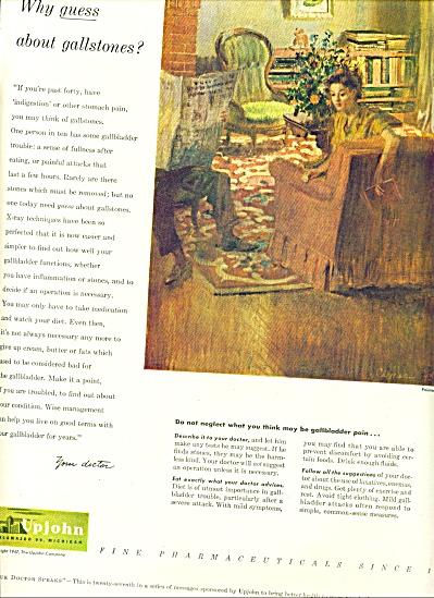 1947 -  Upjohn fine pharmaceuticals ad (Image1)