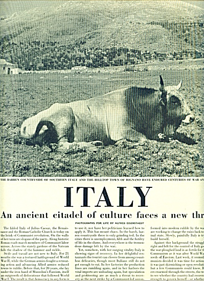 1947 =ITALY, Anciet citadel of culture (Image1)