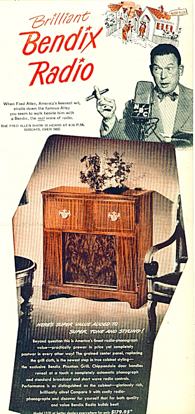 1947 - Bendix Radio - Fred Allen