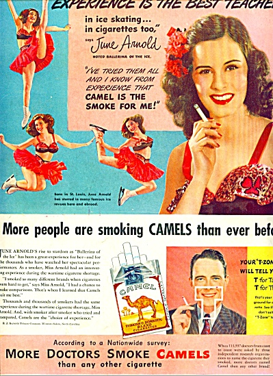 1947 - Camel Cigarettes - June Arnold