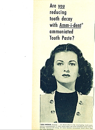 1949 -  Ammident tooth paste - JOAN BENNETT (Image1)
