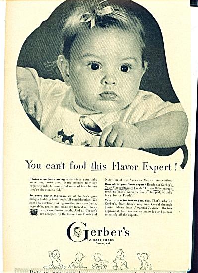 1949 -  Gerber's baby foods ad (Image1)
