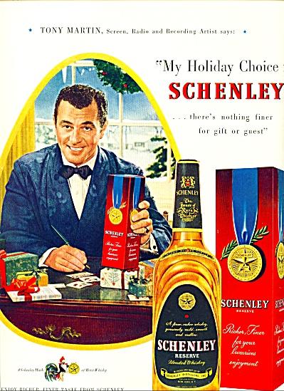 1949 -  Schenley whiskey - TONY MARTIN (Image1)