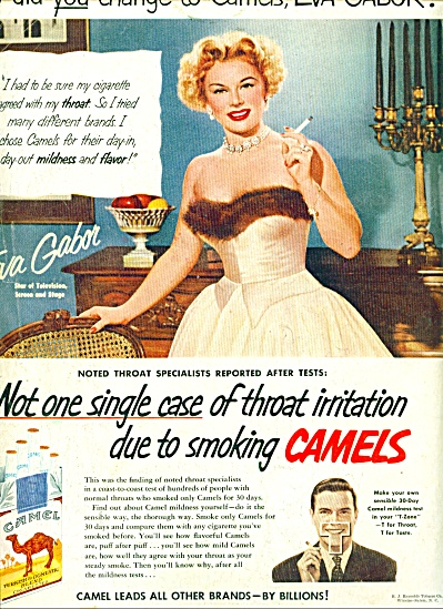 1952 -  Camels cigarettes - EVA GABOR (Image1)