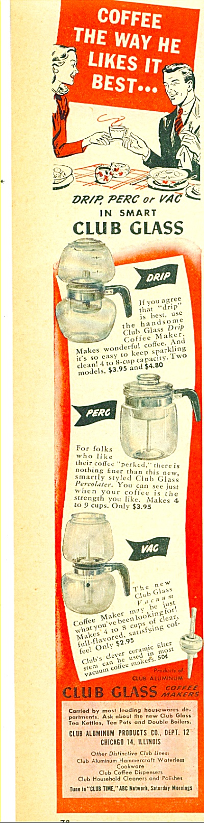 1946 -  Club Aluminum products co., ad (Image1)