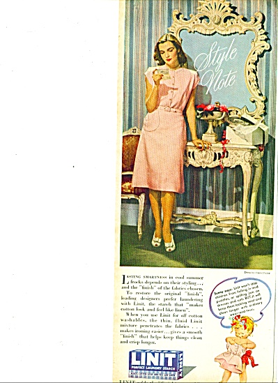 1946 -   Linit laundry starch ad (Image1)