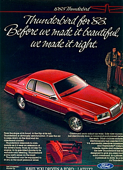 1983 - Ford Motor Car ad (Image1)