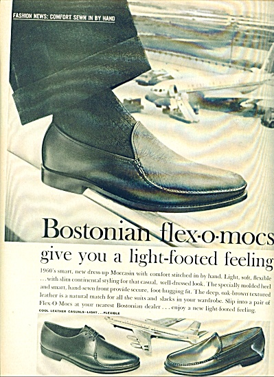 1960 -  Bostonian mens shoes ad (Image1)
