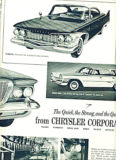 1960 - Chrysler Corporation Cars Ad