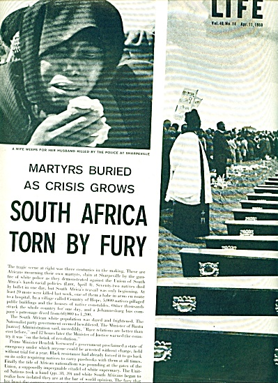 1960 -  South Africa torn by fury story (Image1)