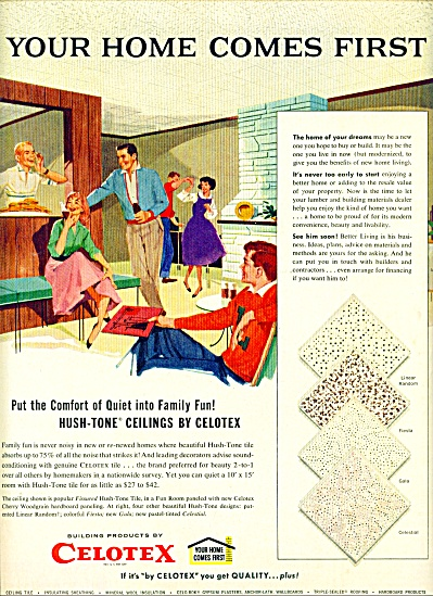 1960 - Celotex ceilings ad (Image1)