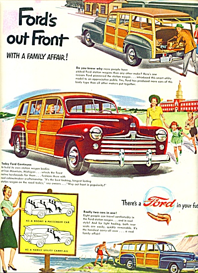 1947 - Ford Station Wagons Ad