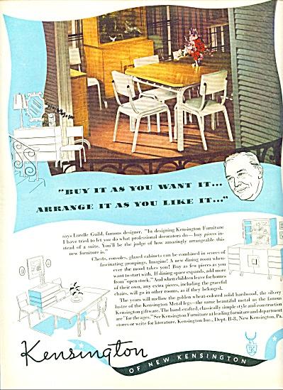 1947 -  Kensington Furniture AD - Blonde Dining Kitchen (Image1)