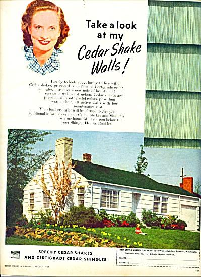 1947 -  Cedar shake shingles ad (Image1)