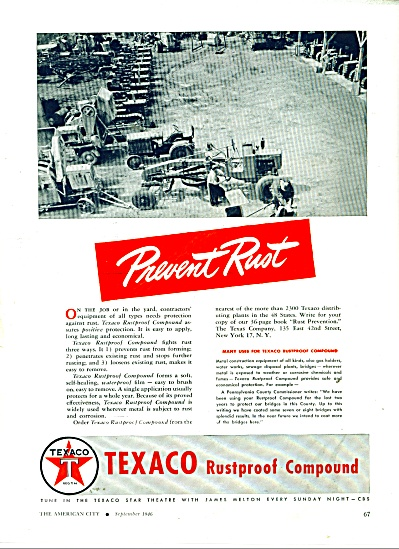 1946 Texaco Rustproof AD TRACTOR GRADERS (Image1)