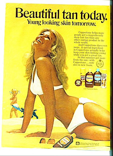 1972 -  Coppertone suntan lotion ad (Image1)