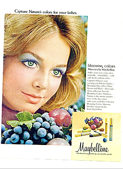 1972 - Maybelline Ad Kelly Harmon Model