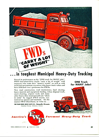 America's FW heavy duty truck ad 1946 (Image1)