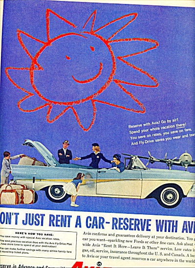 1950 - Avis Rent A Car Ad