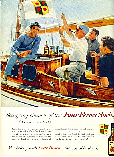 1950 - Four Roses whiskey ad (Image1)