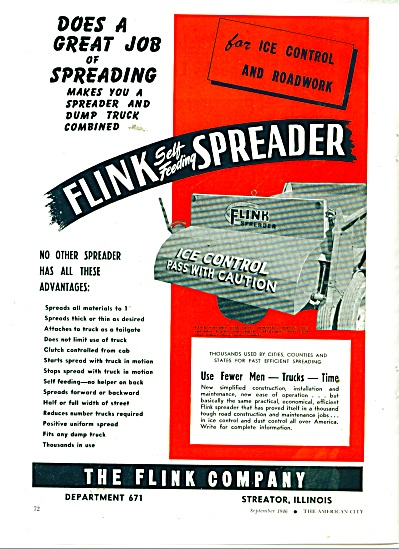The Flink Company Spreader ad 1946 (Image1)