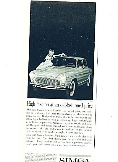 1960 -  Simca auto ad (Image1)