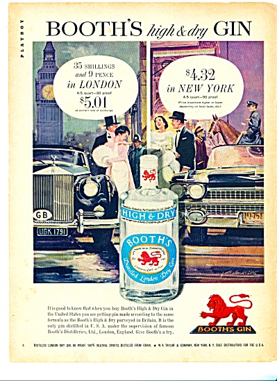 1960 - Booth's distilled london dry gin ad (Image1)