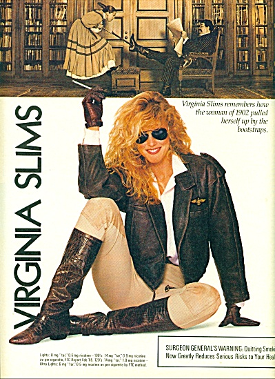 1988 -  Virginia Slims cigarette ad. (Image1)