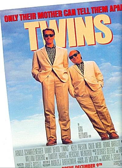 1988 -  Movie: Twins, ARNOLD SCHWARZNEGGER - (Image1)