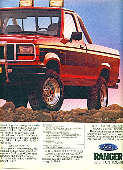 1988 -  Ford Ranger truck ad (Image1)