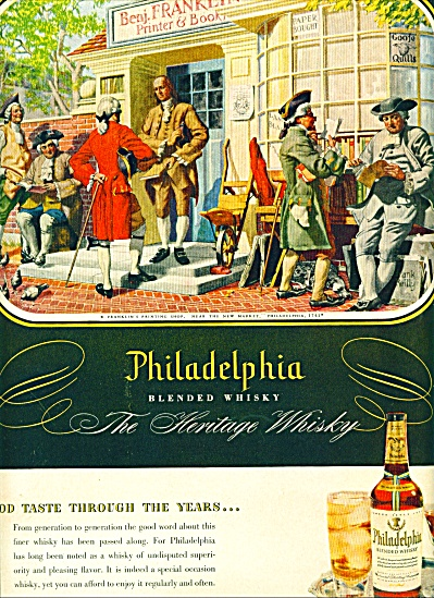 1950 -  Philadelphia blended whisky ad-REILLY (Image1)