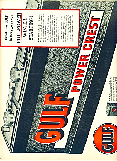 1950 - Gulf Power Crest Battery Ad
