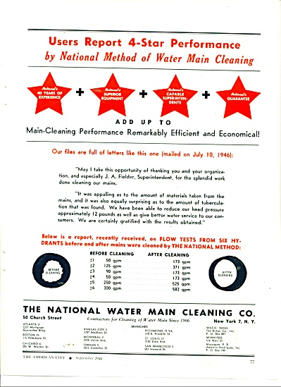 The National Water Main Cleaning Co. ad 1946 (Image1)