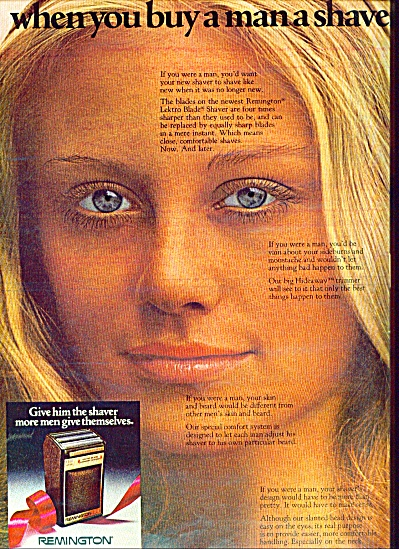 1971 - Remington shaver ad BLONDE MODEL #2 (Image1)