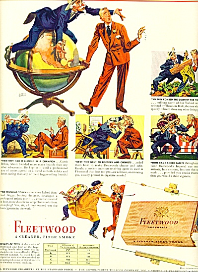 1943 - Fleetwood Imperials Cigarettes Ad