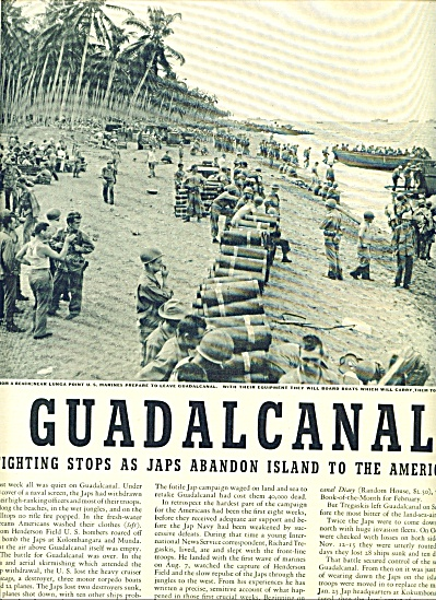 1943 -  GUADALCANAL - After Japs abandon (Image1)