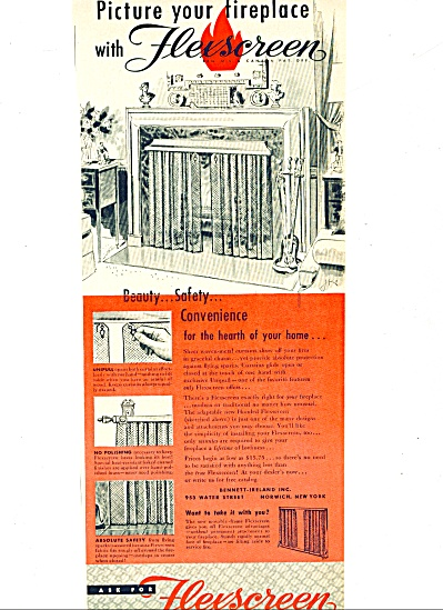 1953 -  Flexscreen for fireplaces ad (Image1)