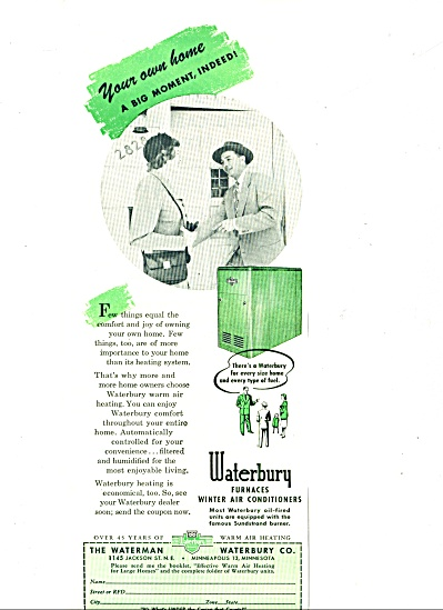 1953 -  Waterbury furnaces - air conditioners (Image1)