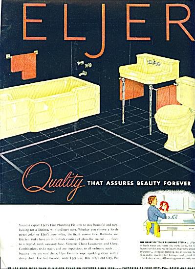 1953 =  Eljer plumbing fixtures ad (Image1)
