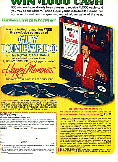 1967 -  Happy Memories=-GUY LOMBARDO (Image1)