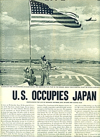 1945 - U. S. occupies Japan story (Image1)