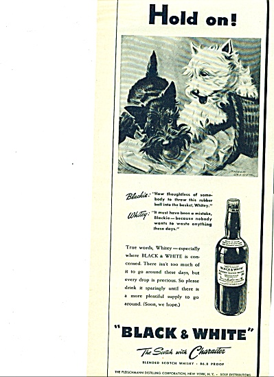 1945 -  Black and White scotch whisky ad (Image1)