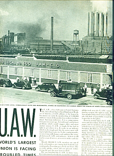 1945 -  United Auto Workders - UAW story (Image1)