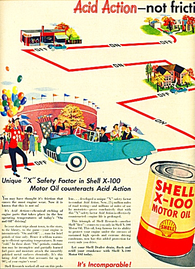1942 - Shell Motor Oil Ad