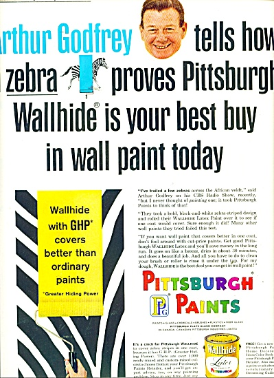 Pittsburgh Paints - ARTHUR GODFREY  ad 1965 (Image1)